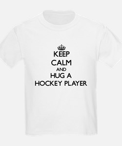 Keep Calm and Hug a Hockey Player T-Shirt