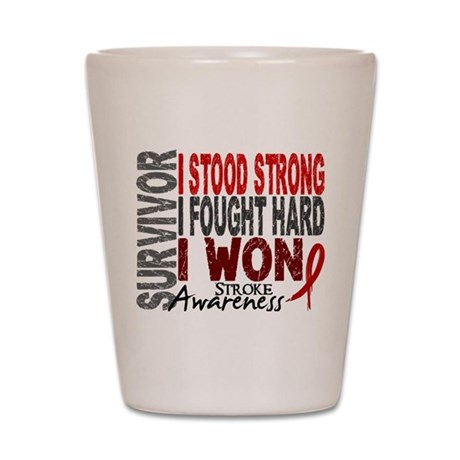 Survivor 4 Stroke Shirts and Gifts Shot Glass