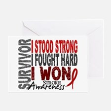 Survivor 4 Stroke Shirts and Gifts Greeting Card