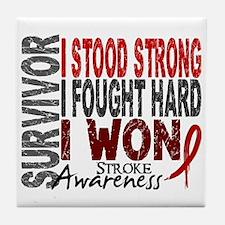 Survivor 4 Stroke Shirts and Gifts Tile Coaster
