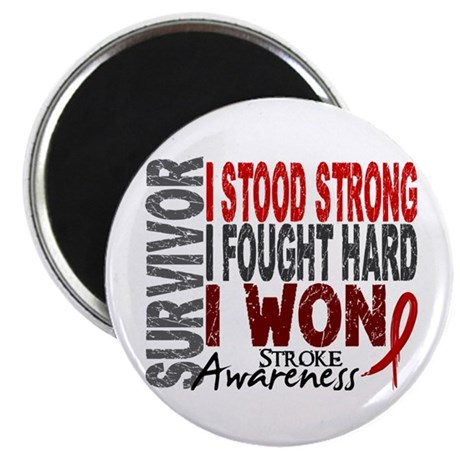 """Survivor 4 Stroke Shirts and Gifts 2.25"""" Magnet (1"""