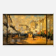 Saint-Lazare Station, Sunlight Effect, Monet, Post