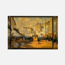 Saint-Lazare Station, Sunlight Effect, Monet, Rect