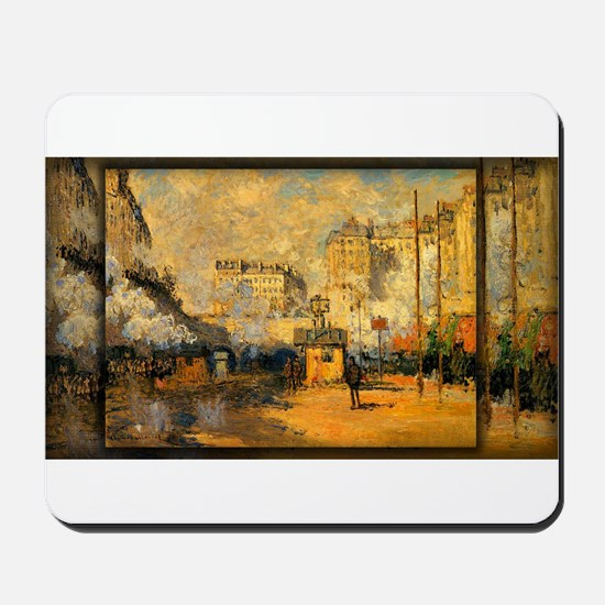 Saint-Lazare Station, Sunlight Effect, Monet, Mous