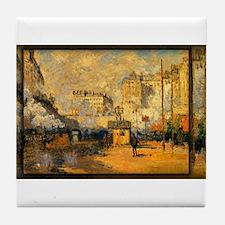 Saint-Lazare Station, Sunlight Effect, Monet, Tile