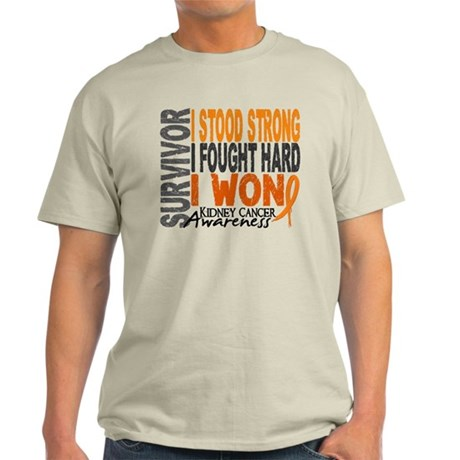 Survivor 4 Kidney Cancer Shirts and Gifts Light T-