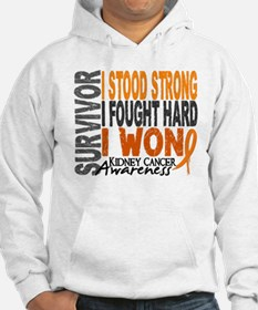 Survivor 4 Kidney Cancer Shirts and Gifts Hoodie