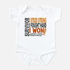 Survivor 4 Kidney Cancer Shirts and Gifts Infant B