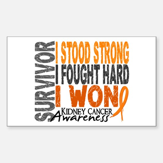 Survivor 4 Kidney Cancer Shirts and Gifts Decal