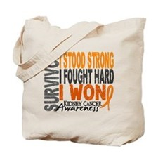 Survivor 4 Kidney Cancer Shirts and Gifts Tote Bag