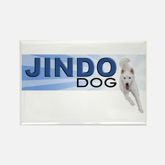 Jindo run Rectangle Magnet