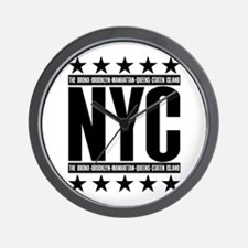 NYC Boroughs Wall Clock