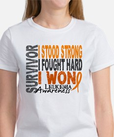 Survivor 4 Leukemia Shirts and Gifts Women's T-Shi