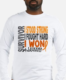 Survivor 4 Leukemia Shirts and Gifts Long Sleeve T