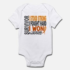 Survivor 4 Leukemia Shirts and Gifts Infant Bodysu