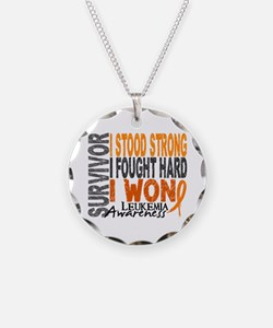 Survivor 4 Leukemia Shirts and Gifts Necklace