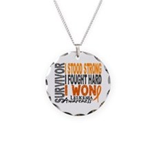 Survivor 4 Leukemia Shirts and Gifts Necklace Circ