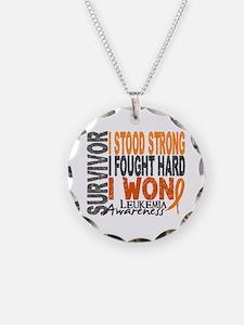 Survivor 4 Leukemia Shirts and Gifts Necklace Circ