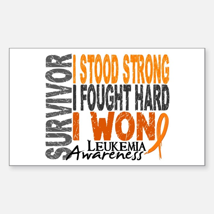 Survivor 4 Leukemia Shirts and Gifts Decal
