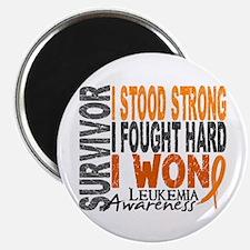 "Survivor 4 Leukemia Shirts and Gifts 2.25"" Magnet"