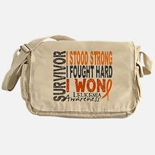 Survivor 4 Leukemia Shirts and Gifts Messenger Bag