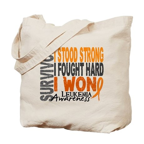 Survivor 4 Leukemia Shirts and Gifts Tote Bag