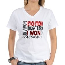 Survivor 4 Lung Cancer Shirts and Gifts Shirt