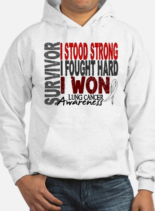 Survivor 4 Lung Cancer Shirts and Gifts Hoodie
