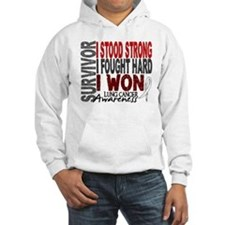 Survivor 4 Lung Cancer Shirts and Gifts Jumper Hoody