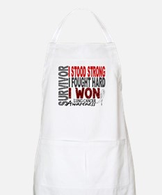 Survivor 4 Lung Cancer Shirts and Gifts Apron