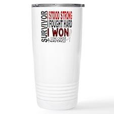 Survivor 4 Lung Cancer Shirts and Gifts Travel Mug