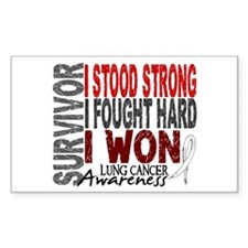 Survivor 4 Lung Cancer Shirts and Gifts Decal