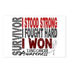 Survivor 4 Lung Cancer Shirts and Gifts Postcards