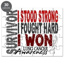Survivor 4 Lung Cancer Shirts and Gifts Puzzle