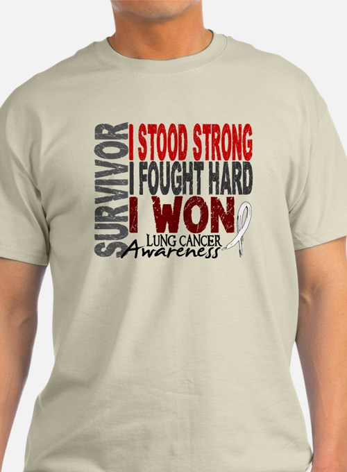Survivor 4 Lung Cancer Shirts and Gifts T-Shirt