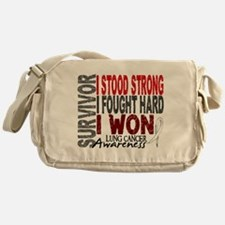 Survivor 4 Lung Cancer Shirts and Gifts Messenger