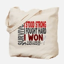 Survivor 4 Lung Cancer Shirts and Gifts Tote Bag