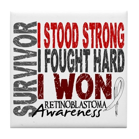 Survivor 4 Retinoblastoma Shirts and Gifts Tile Co