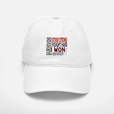 Survivor 4 Mesothelioma Shirts and Gifts Baseball Baseball Cap