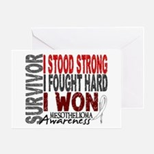 Survivor 4 Mesothelioma Shirts and Gifts Greeting