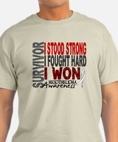 Survivor 4 Mesothelioma Shirts and Gifts T-Shirt