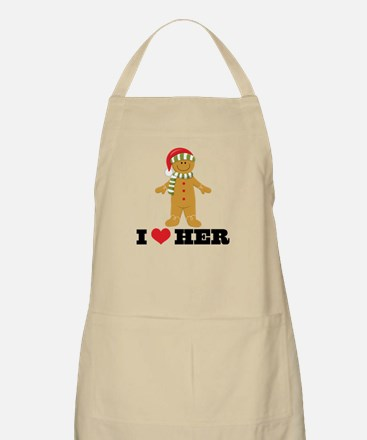 Gingerbread Man Couples Apron