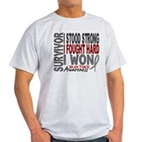 Brain tumor survivor Mens Light T-shirts