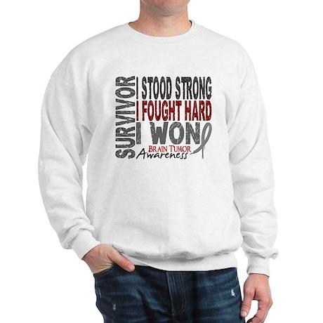 Survivor 4 Brain Tumor Shirts and Gifts Sweatshirt