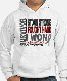 Survivor 4 Brain Tumor Shirts and Gifts Jumper Hoody