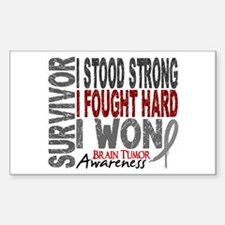 Survivor 4 Brain Tumor Shirts and Gifts Decal