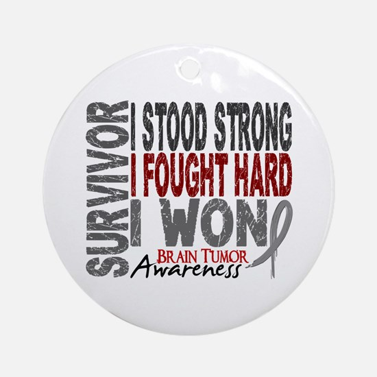 Survivor 4 Brain Tumor Shirts and Gifts Ornament (