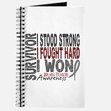 Survivor 4 Brain Tumor Shirts and Gifts Journal