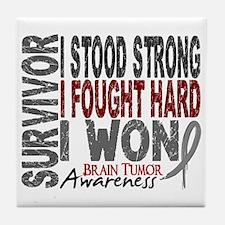 Survivor 4 Brain Tumor Shirts and Gifts Tile Coast