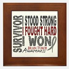 Survivor 4 Brain Tumor Shirts and Gifts Framed Til